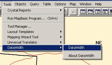 MapInfo Tools Menü